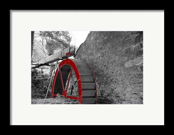 Water Framed Print featuring the photograph Water Wheel. by Christopher Rowlands