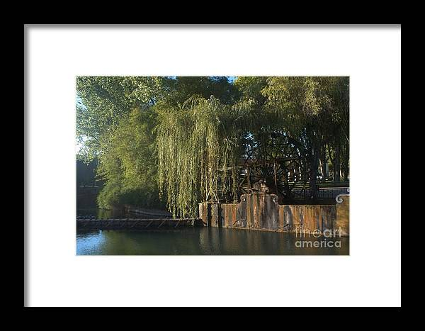 Tomar Portugal Framed Print featuring the digital art Water Wheel by Edna Weber