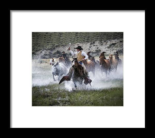 Sombrero Ranch Framed Print featuring the photograph Water Wranglers by Pamela Steege