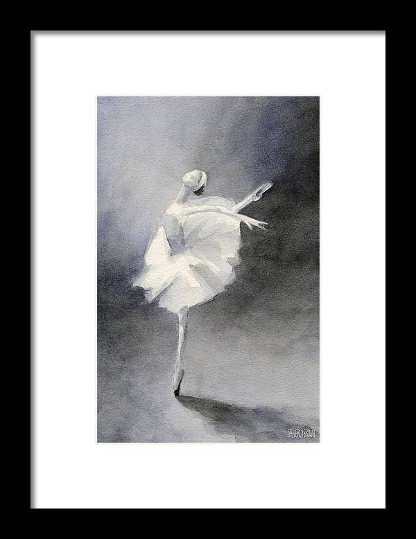 Ballet Framed Print featuring the painting Watercolor Ballerina Painting by Beverly Brown