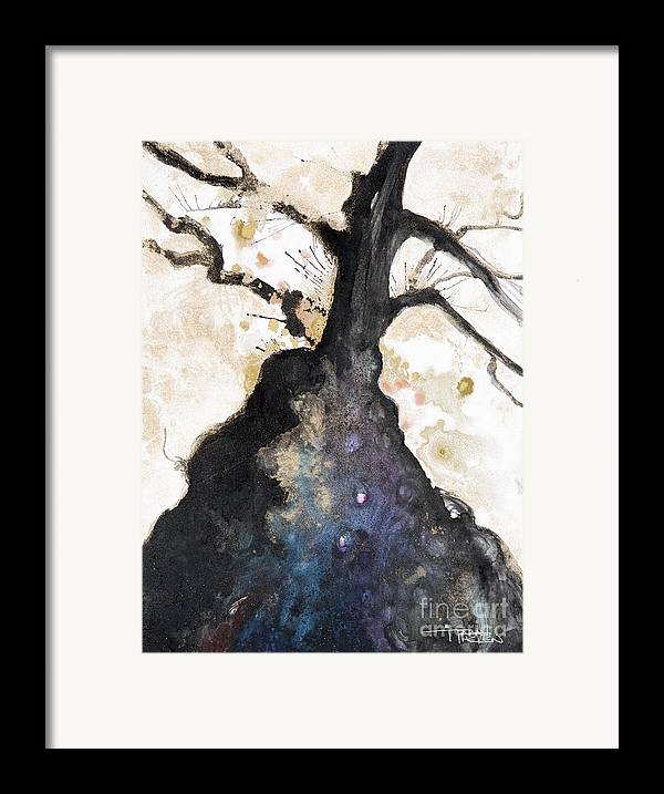 Abstract Framed Print featuring the painting Watercolor Branches by Tara Thelen
