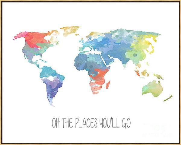 Watercolor Map by Jennifer Camp