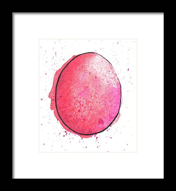 Watercolor Painting Framed Print featuring the digital art Watercolor Painting Of A Colorful by Andrea hill