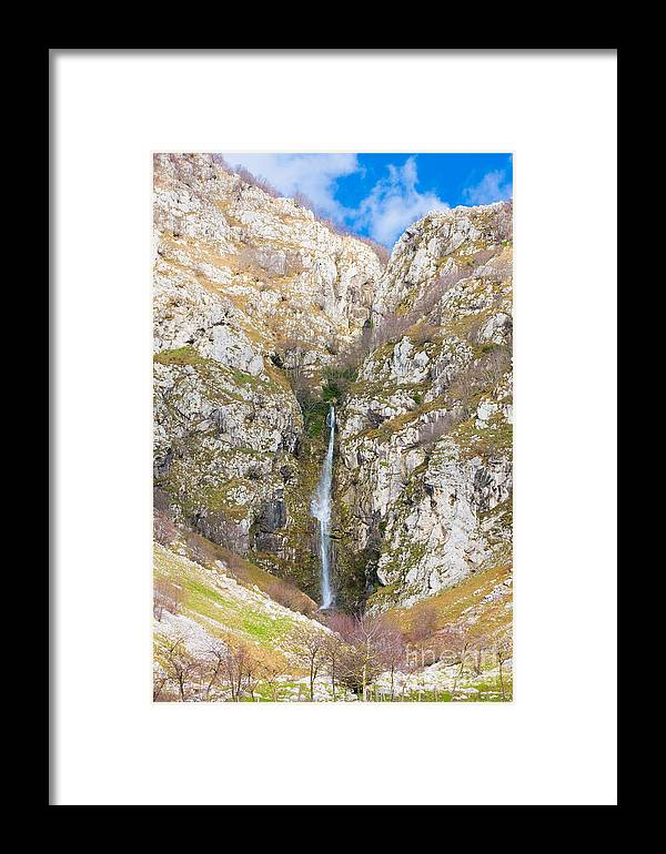 Waterfall Framed Print featuring the photograph Waterfall At Lago Del Matese by Gabriela Insuratelu