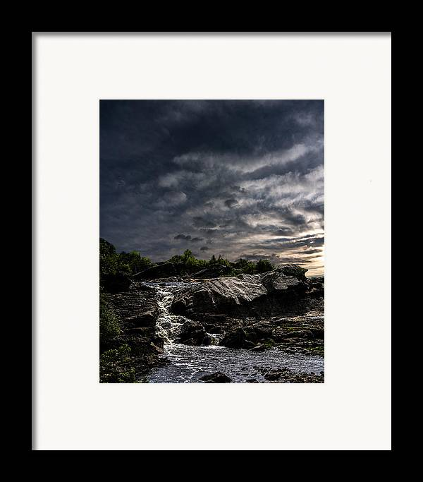 Waterfall Framed Print featuring the photograph Waterfall At Sunrise by Bob Orsillo