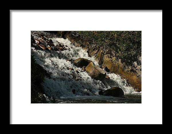 Waterfall Framed Print featuring the photograph Waterfall by Becca Wilson