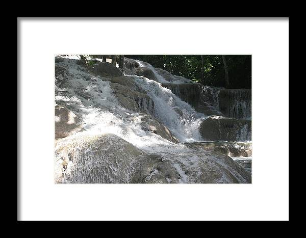 Water Fall Framed Print featuring the photograph Waterfall by Dervent Wiltshire