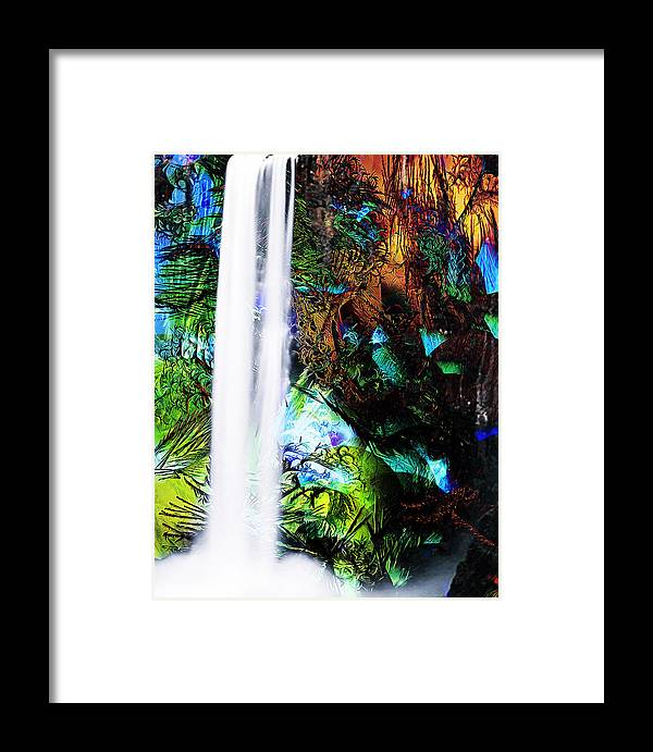 Waterfall Framed Print featuring the mixed media Waterfall Enchantment II by Catherine Harms