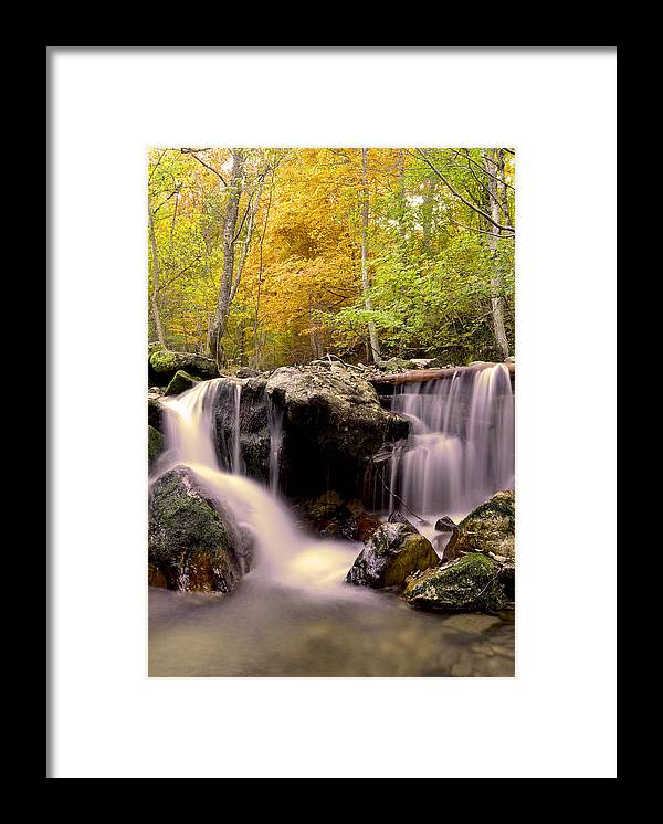 Waterfall Framed Print featuring the photograph Waterfall In The Mountain by Aleksey Zaharinov