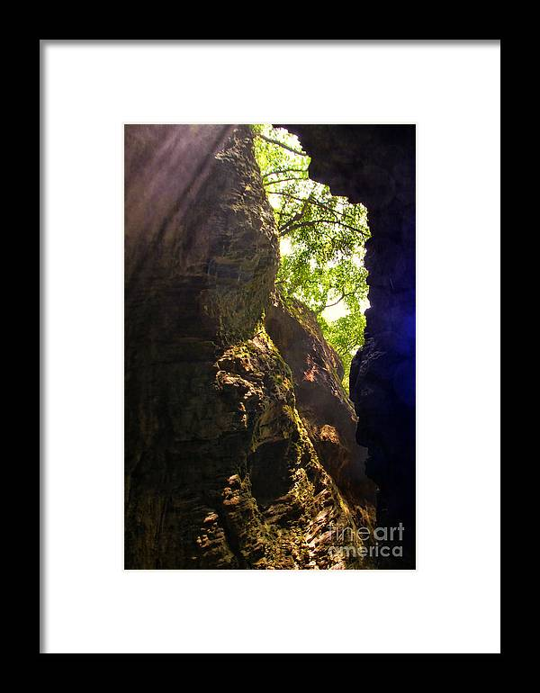 Waterfall Mountain Framed Print featuring the photograph Waterfall Mountain by Mariola Bitner