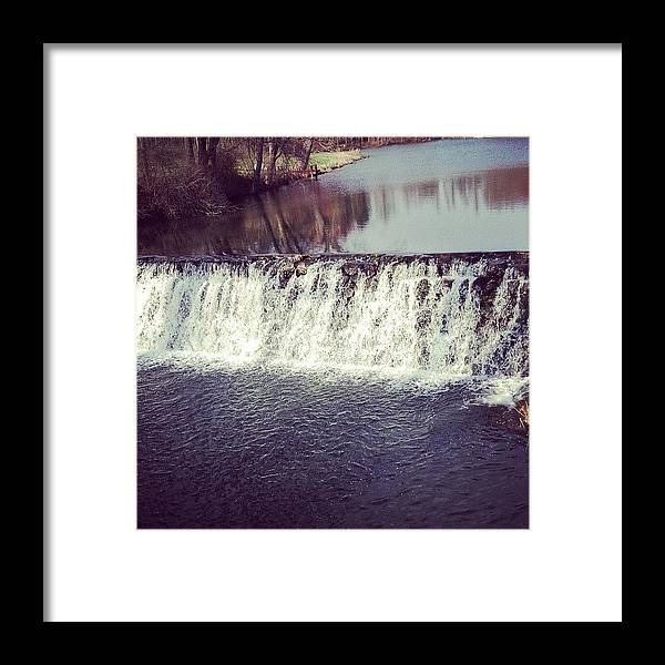 Beautiful Framed Print featuring the photograph #waterfall #newyork #water #nature by Amber Campanaro