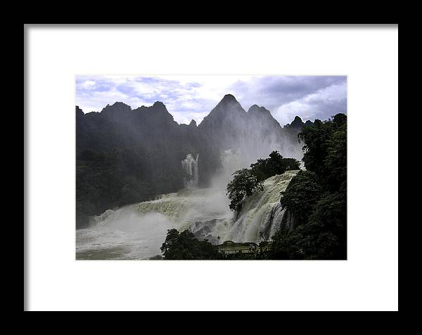 Framed Print featuring the photograph Waterfall by Qing