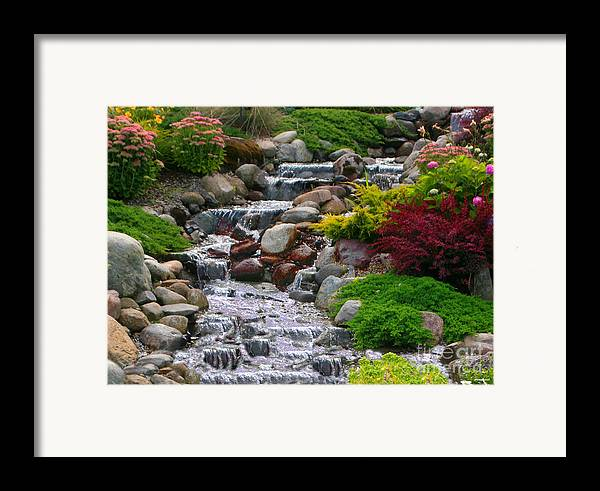 Waterfall Framed Print featuring the photograph Waterfall by Tom Prendergast