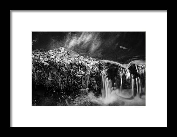 Waterfalls Framed Print featuring the photograph Waterfalls Childs National Park Painted Bw  by Rich Franco