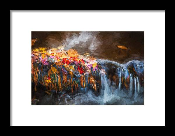 Waterfalls Framed Print featuring the photograph Waterfalls Childs National Park Painted by Rich Franco