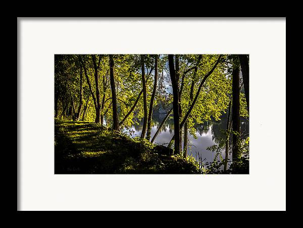Landscape Framed Print featuring the photograph Waters Edge by Bob Orsillo