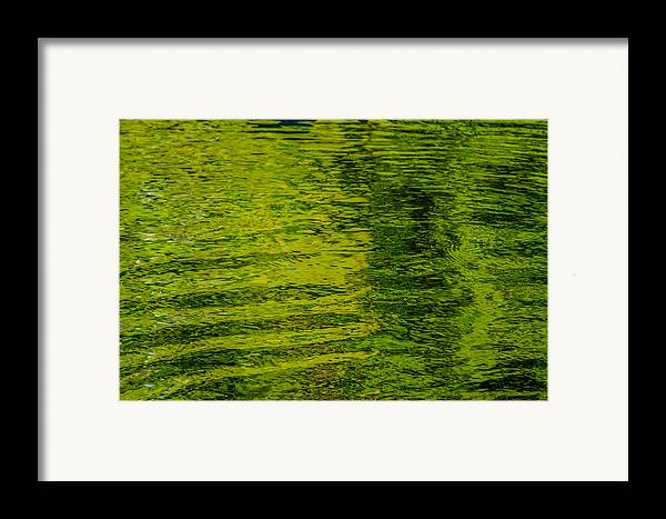 Abstract Framed Print featuring the photograph Water's Green by Roxy Hurtubise