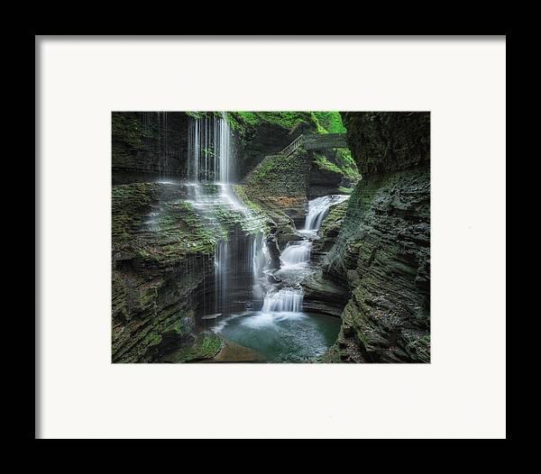 Watkins Glen Framed Print featuring the photograph Watkins Glen by Bill Wakeley