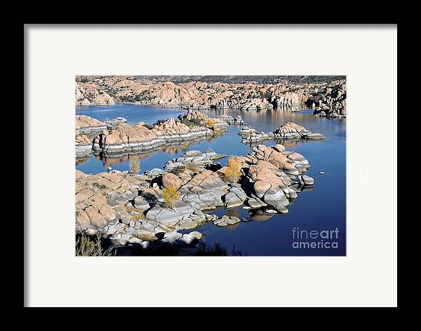 Lake Framed Print featuring the photograph Watson Lake And The Granite Dells by Jim Chamberlain