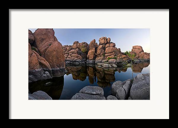 Watson Lake Framed Print featuring the photograph Watson Lake Arizona Reflections by Dave Dilli