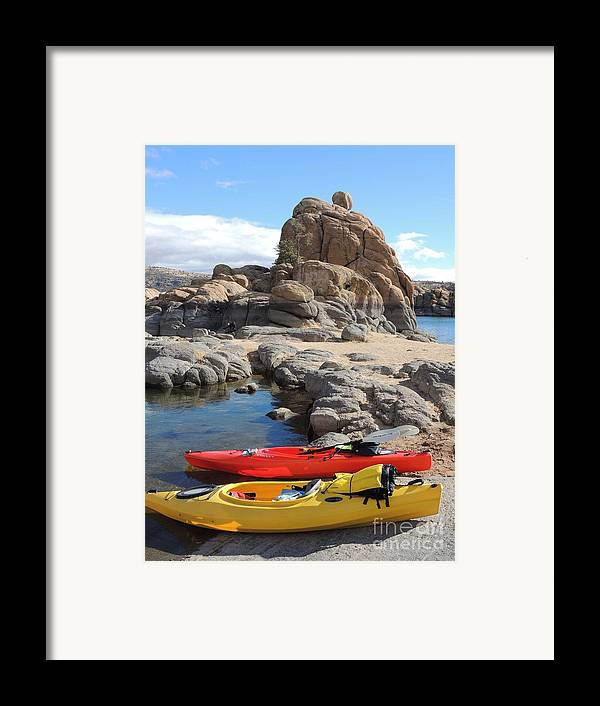 Watson Lake Framed Print featuring the photograph Watson Lake by Diane Greco-Lesser