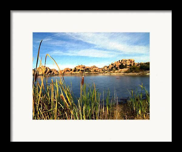 Watson Lake Framed Print featuring the photograph Watson Lake by Kurt Van Wagner