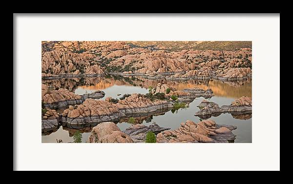 Prescott Framed Print featuring the photograph Watson Lake Sunset by Angie Schutt