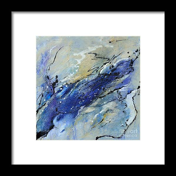 Painting Framed Print featuring the painting Wave - Abstract Art by Ismeta Gruenwald