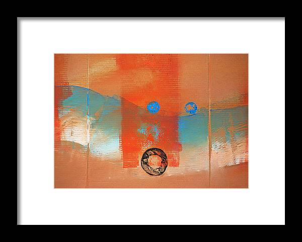 Wave Abstract Art Framed Print featuring the painting Wave Abstract by Charles Stuart