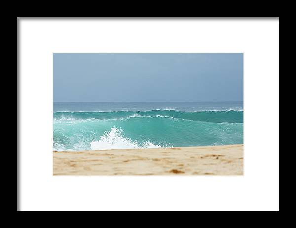 Scenics Framed Print featuring the photograph Wave Action by Laszlo Podor