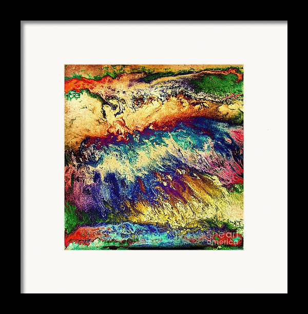 Red Framed Print featuring the digital art Wave Of Color by Patty Vicknair