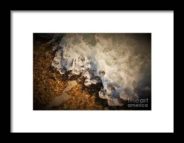 Water Framed Print featuring the photograph Wave Of Emotions by Sabasion Bentley-Dyess