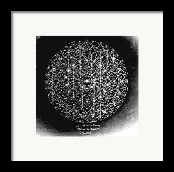 jason framed print featuring the drawing wave particle duality black white by jason padgett