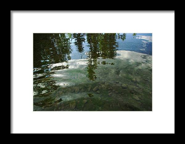 Framed Print featuring the photograph Wavering Reflections by Jeff Swan