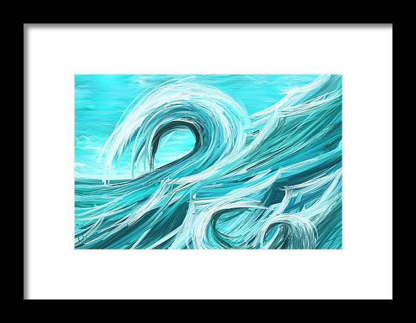 waves collision abstract wave paintings framed print by lourry legarde