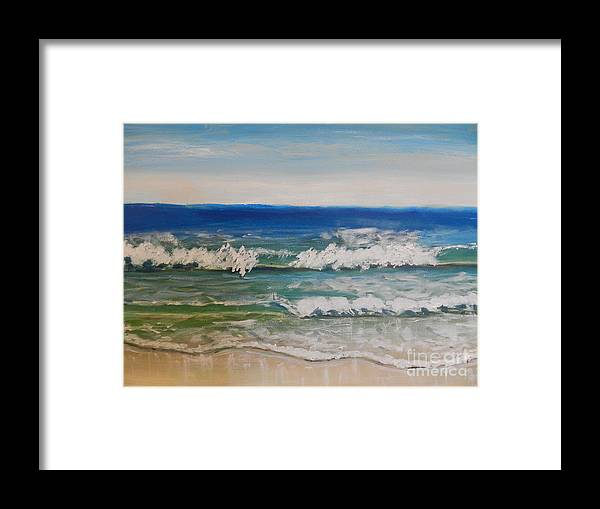 Waves Framed Print featuring the painting Waves by Pamela Meredith