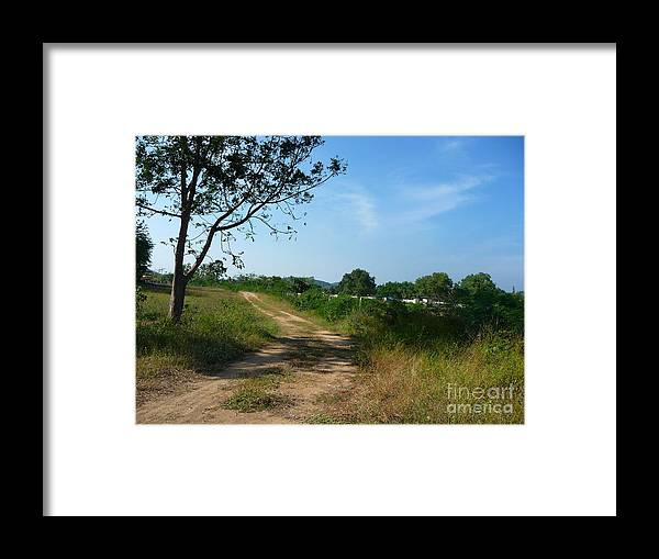 Landscape Framed Print featuring the photograph Way To The Beach by Pusita Gibbs