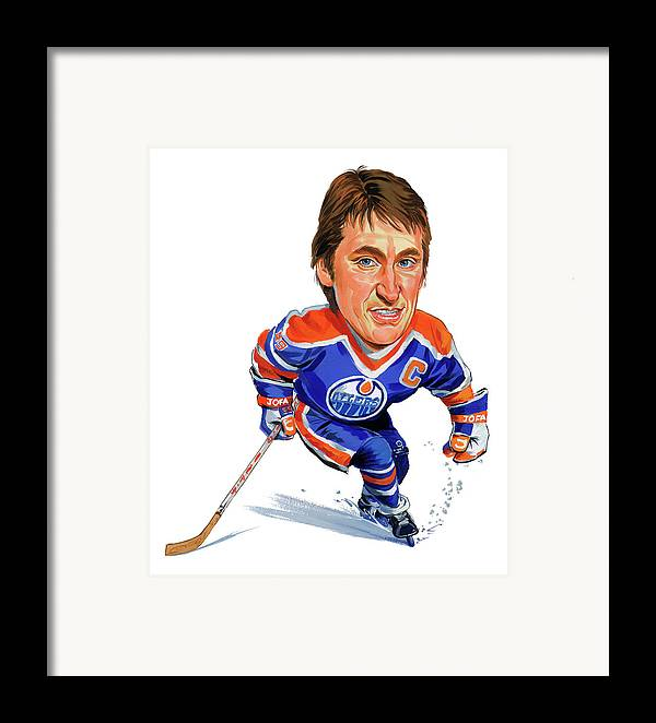 Wayne Gretzky Framed Print featuring the painting Wayne Gretzky by Art