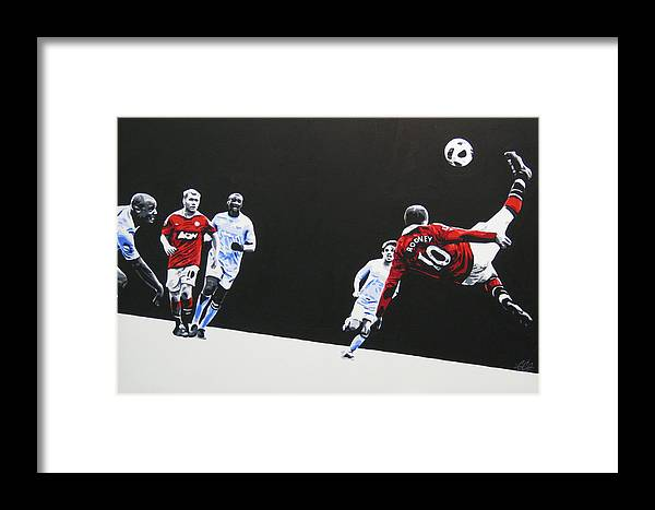 Wayne Rooney Framed Print featuring the painting Wayne Rooney - Manchester United Fc by Geo Thomson