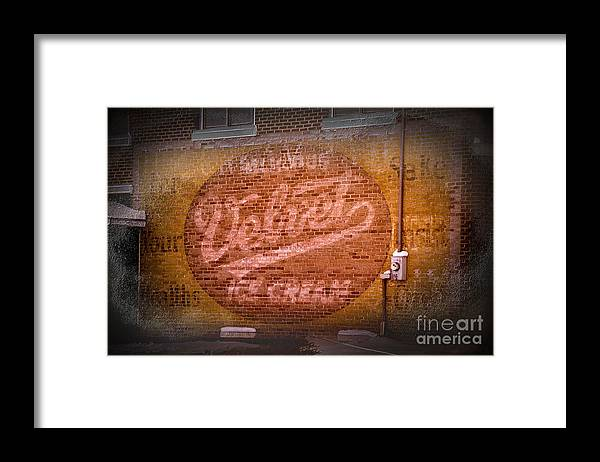Sign Framed Print featuring the photograph We All Scream by The Stone Age