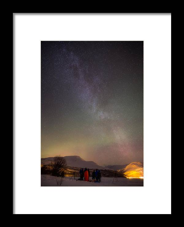 Aurora Framed Print featuring the photograph We Are Not Alone by Anders Hanssen