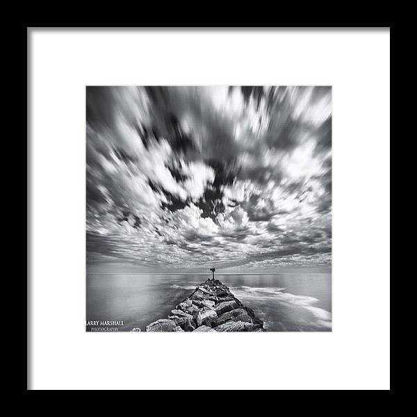 Framed Print featuring the photograph We Have Had Lots Of High Clouds And by Larry Marshall