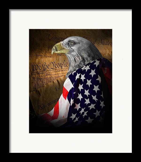 Eagle Framed Print featuring the photograph We The People by Tom Mc Nemar