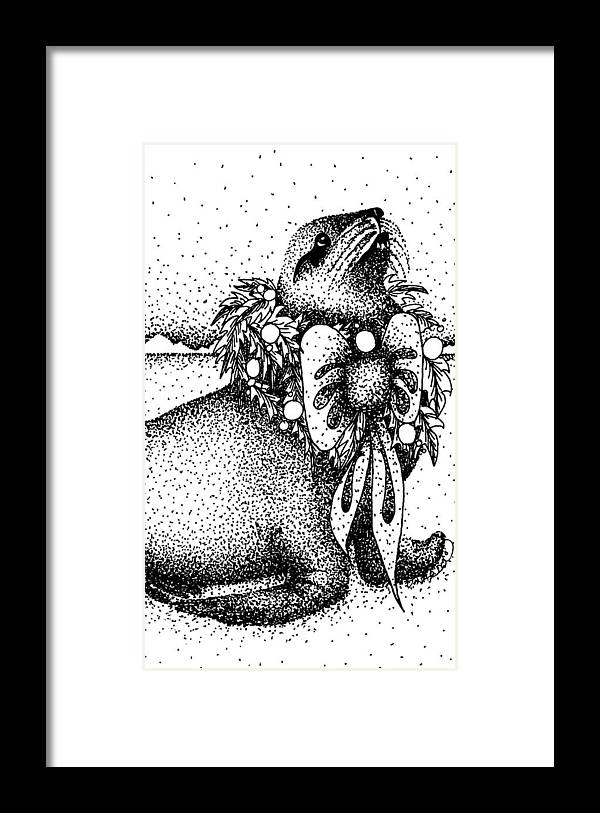 Design Framed Print featuring the drawing Wear Your Best by Joy Bradley
