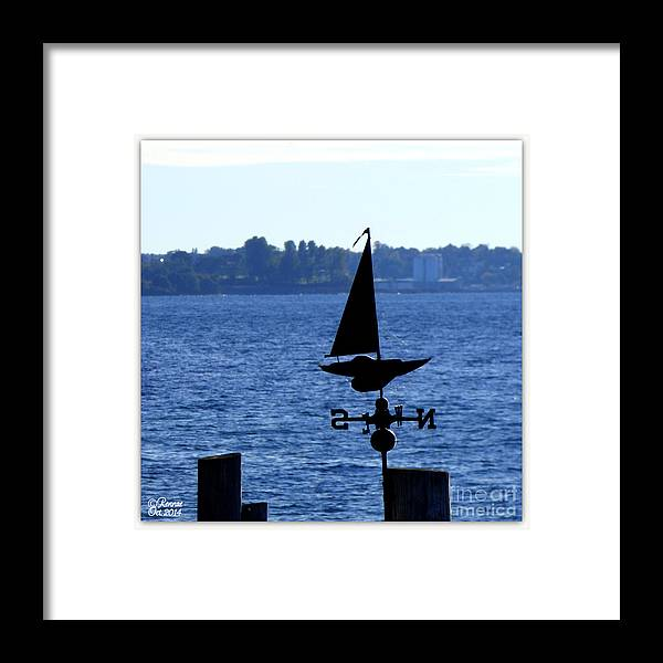 Landscape Framed Print featuring the photograph Weather Vane by Rennae Christman