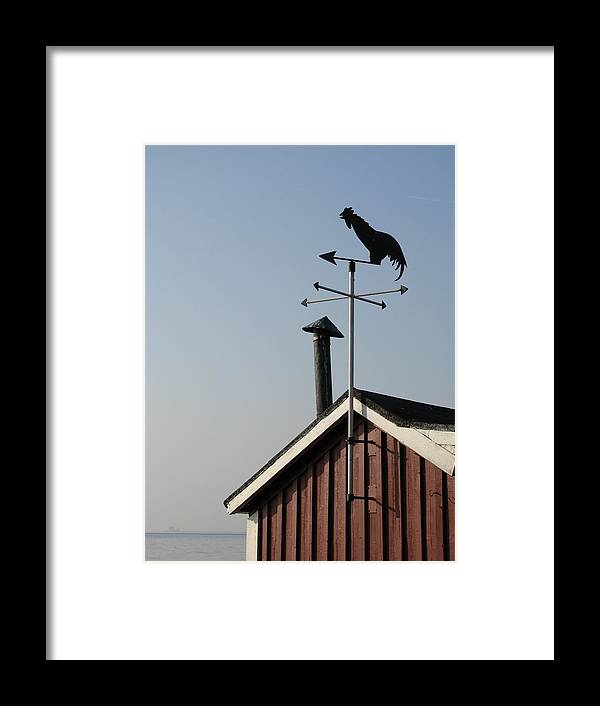 Weathercock Framed Print featuring the photograph Weathercock Malmo Europe by Eva Csilla Horvath