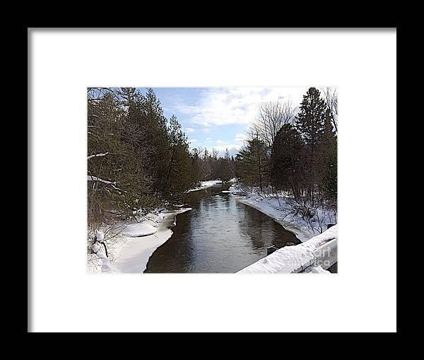 Jordan River Framed Print featuring the photograph Webster Bridge by Joseph Yarbrough