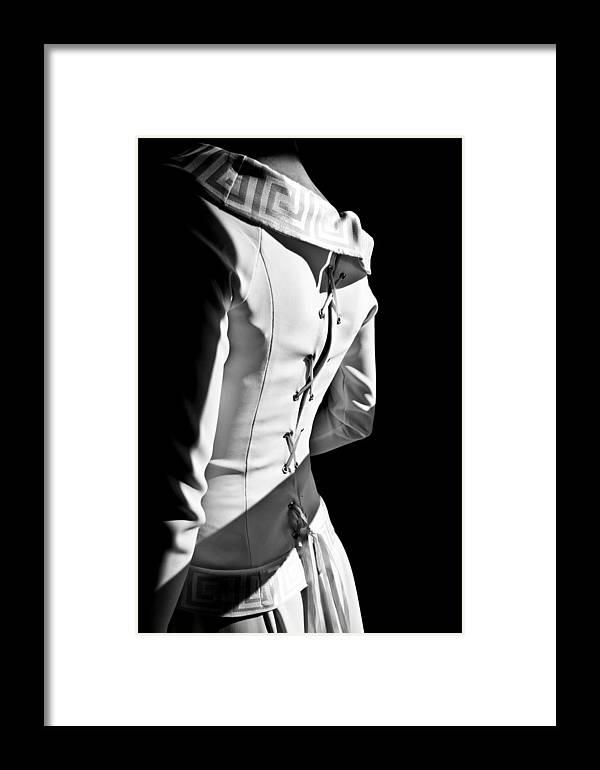 Wedding Framed Print featuring the photograph Wedding Dress by Petra Kontusic