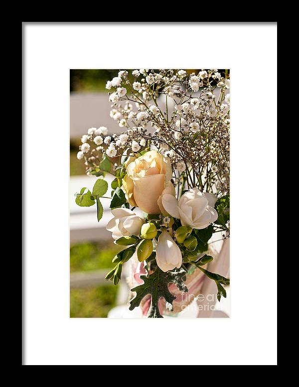 Wedding Framed Print featuring the photograph Wedding Posy by Rick Piper Photography