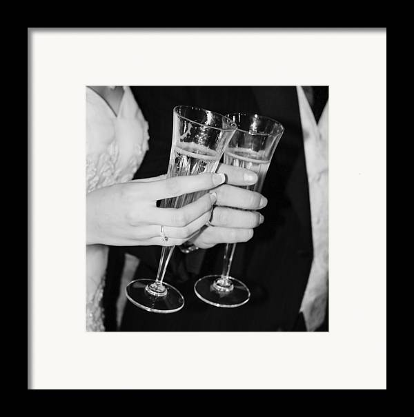 Champagne Framed Print featuring the photograph Wedding Toast by Valerie Loop